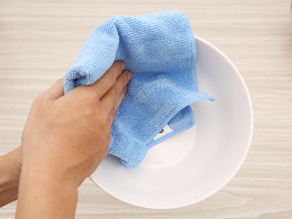 Bộ 3 khăn lau bếp đa năng microfiber Bách hoá XANH 30 x 30cm 6