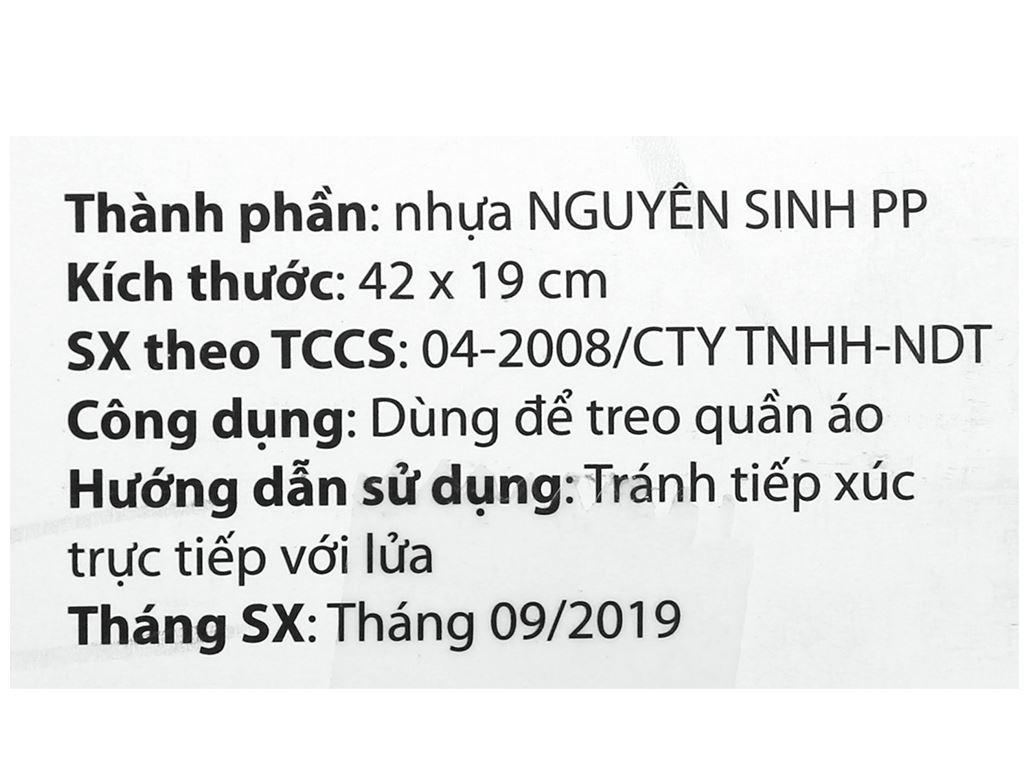 Bộ 6 móc quần áo nhựa Đồng Tâm MA 009 6