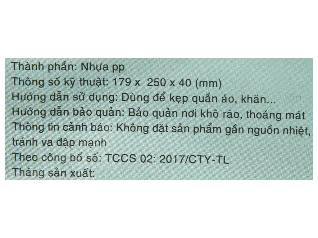 Bộ 12 kẹp áo nhựa hoa mai Tự Lập TL32 8