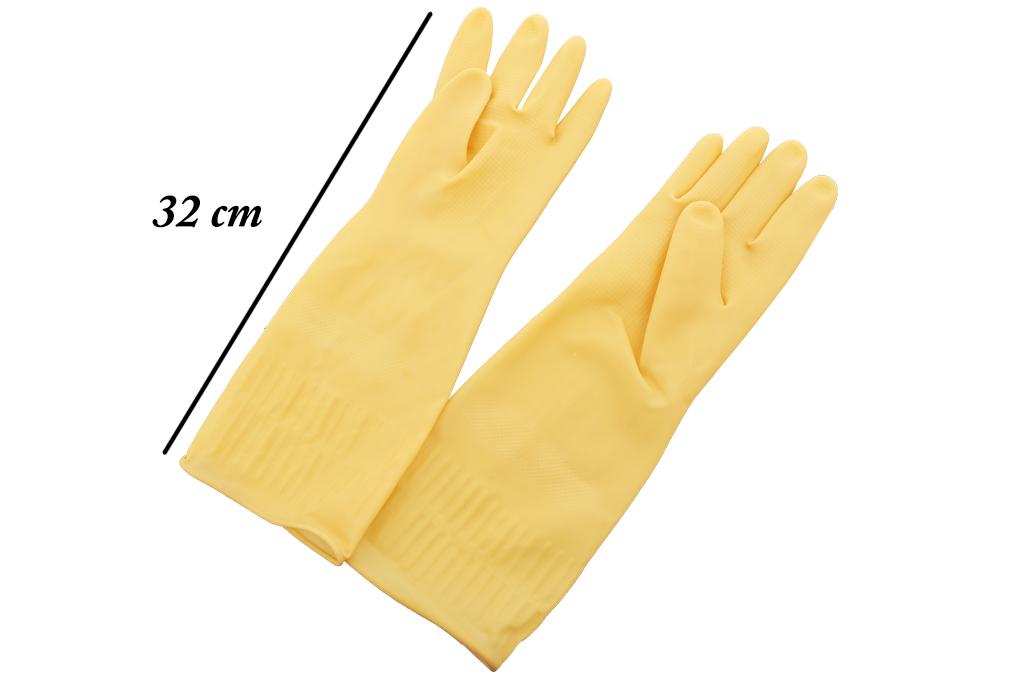 Găng tay cao su cỡ L 32cm Scotch Brite Cót Rai