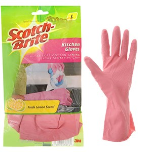 Găng tay cao su lót cotton Scotch Brite size L