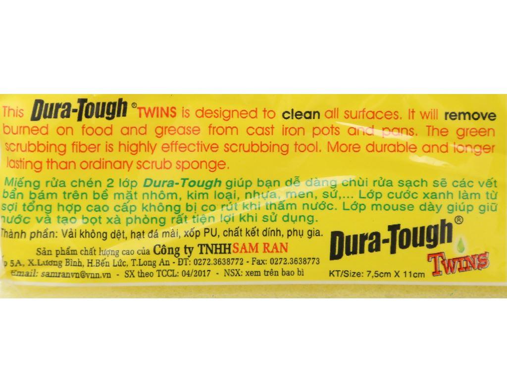 Miếng rửa chén 2 lớp Samran dura-tough 10
