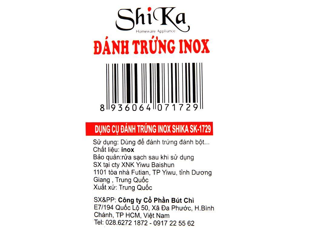 Cây đánh trứng inox Shika SK1729 7