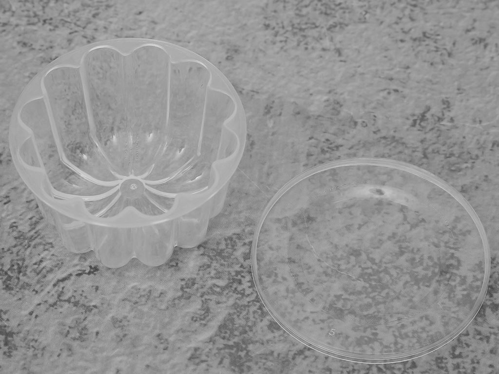Lốc 10 khuôn rau câu có nắp đậy nhựa Hofaco HPB110 3