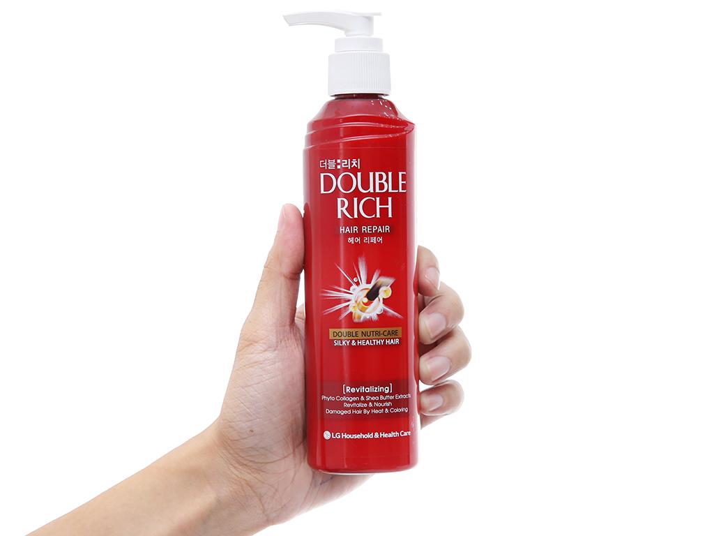 Kem dưỡng tóc Double Rich phục hồi hư tổn do uốn nhuộm 250ml 4