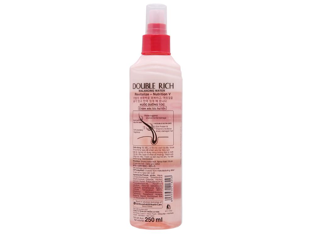 Xịt dưỡng tóc Double Rich chăm sóc tóc hư tổn 250ml 3