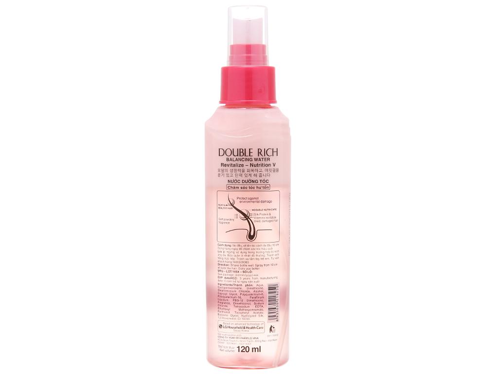 Xịt dưỡng tóc Double Rich chăm sóc tóc hư tổn 120ml 3