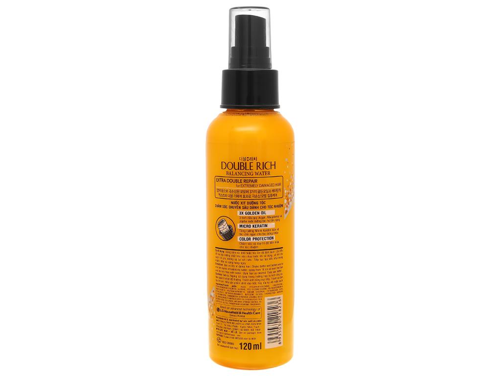Xịt dưỡng tóc Double Rich dưỡng tóc mềm mượt 120ml 2