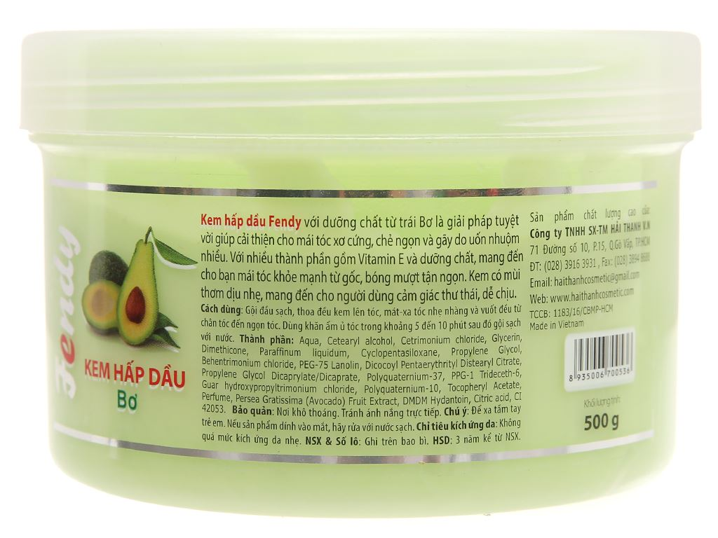 Kem hấp dầu Fendy Avocado phục hồi hư tổn 500g 2