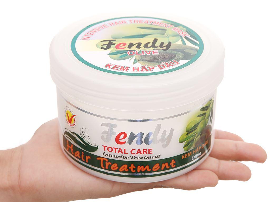 Kem hấp dầu Fendy Olive chăm sóc tóc hư tổn 500g 4