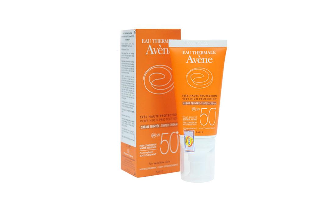 Kem chống nắng có màu bảo vệ tối đa Avene Very High Protection Tinted Cream SPF 50+ 50ml