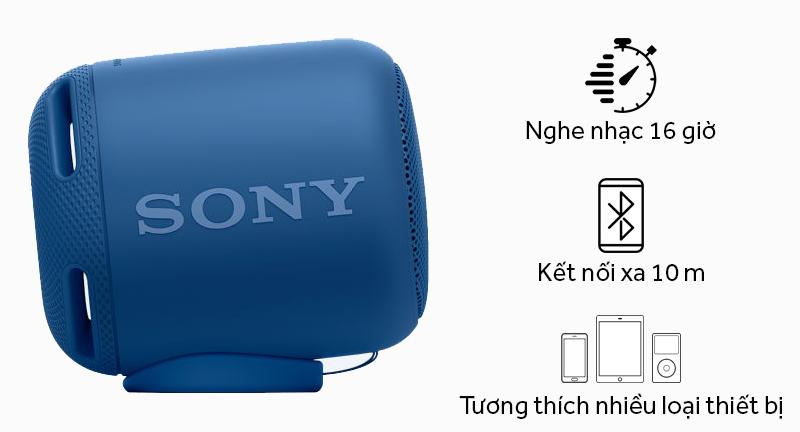 Loa bluetooth Sony SRS-XB10 - Thời gian sử dụng và khả năng tương thích
