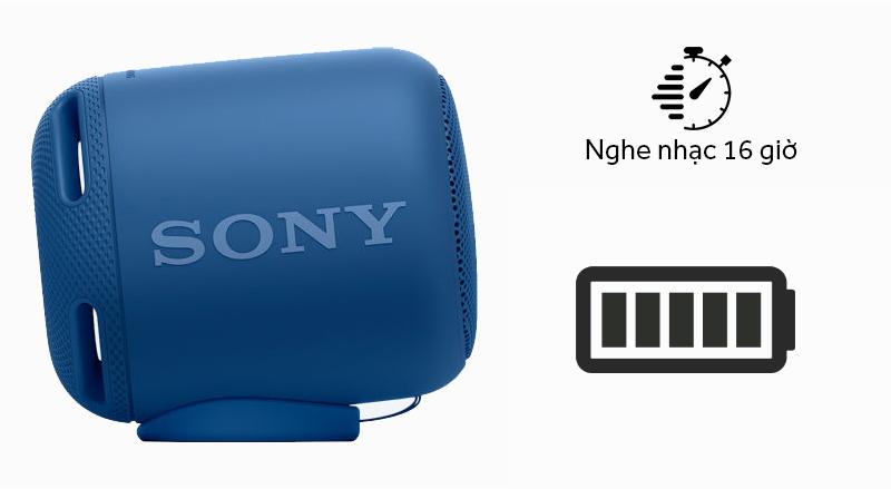 Loa Bluetooth Sony SRS-XB10 - Thời gian sử dụng đến 16 giờ nghe nhạc