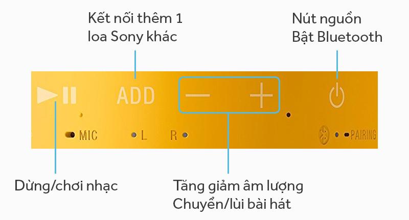 Loa bluetooth Sony SRS-XB10 - Các nút ấn trên loa