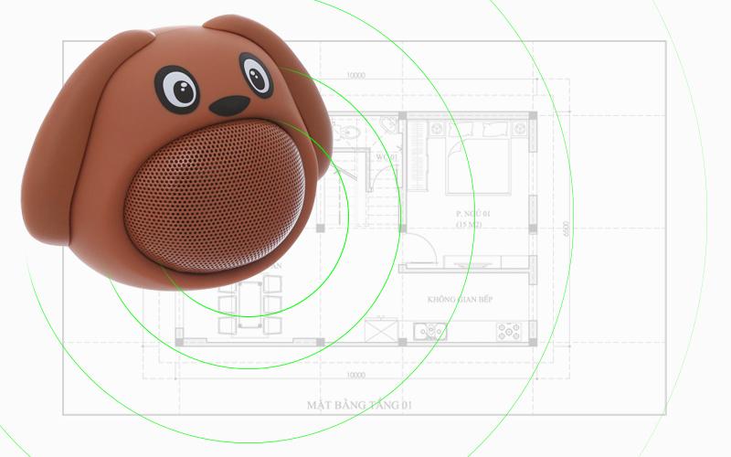 Loa Bluetooth iCutes MB-M818 Cún - Âm thanh phát ra to và ít bị vỡ tiếng