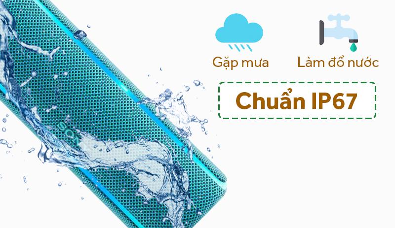 Chuẩn chống nước IP67 - Loa Bluetooth Sony SRS-XB21