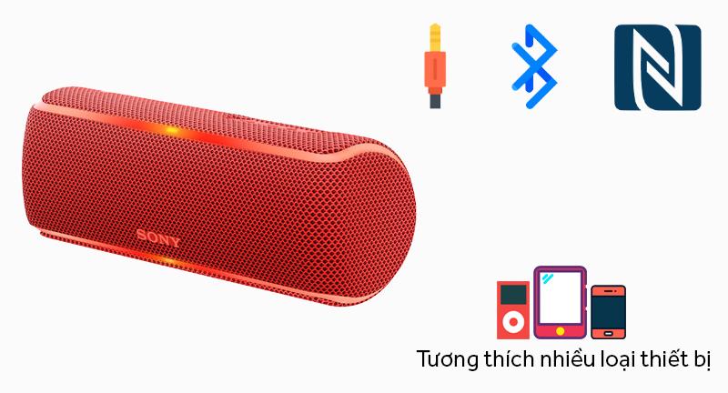 Tương thích nhiều thiết bị - Loa Bluetooth Sony SRS-XB21