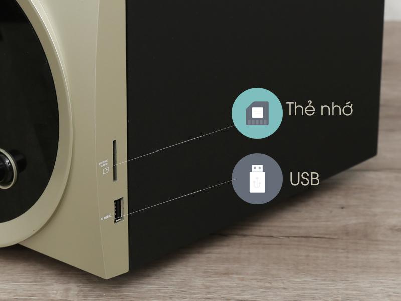 Kết nối USB và thẻ nhớ