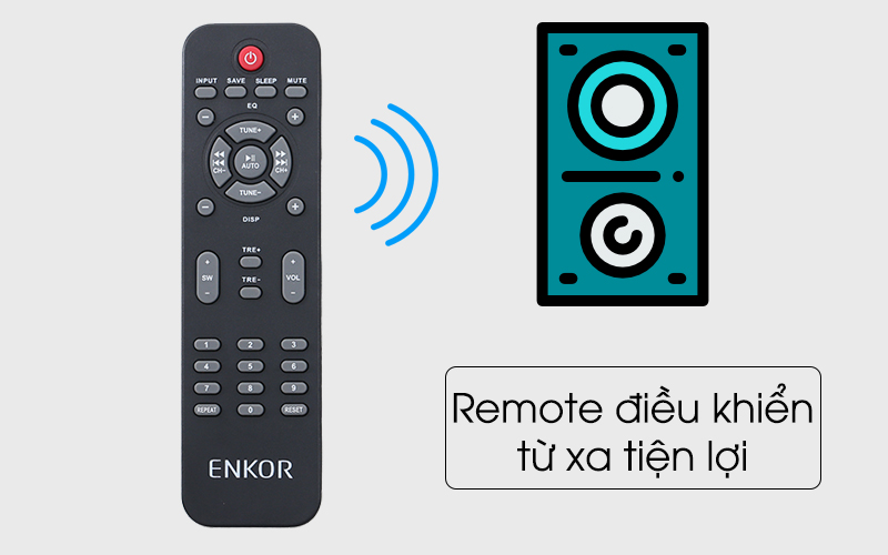Loa vi tính Enkor 2.1 R228 - Remote điều khiển từ xa