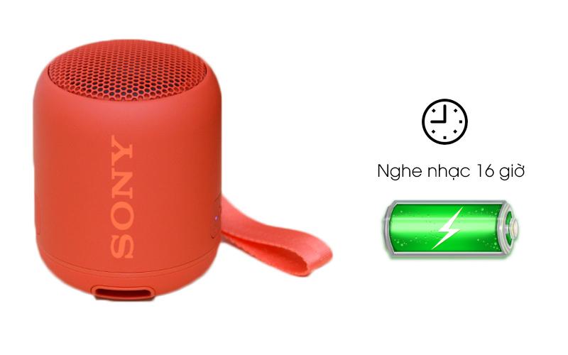 Loa Bluetooth Sony SRS-XB12 nghe nhạc được đến 16 giờ