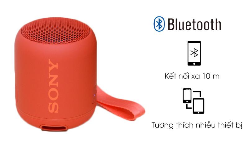 Loa Bluetooth Sony SRS-XB12 kết nối qua bluetooth, tương thích nhiều thiết bị