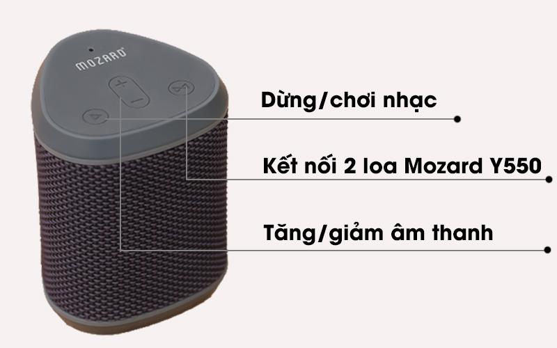 Loa Bluetooth Mozard Y550 Xám với phím điều khiển có nhiều chức năng
