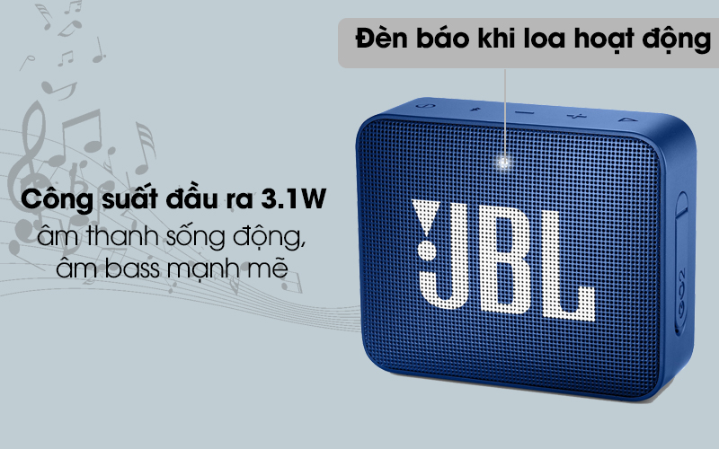 Loa Bluetooth JBL GO2BLK cho âm thanh sống động