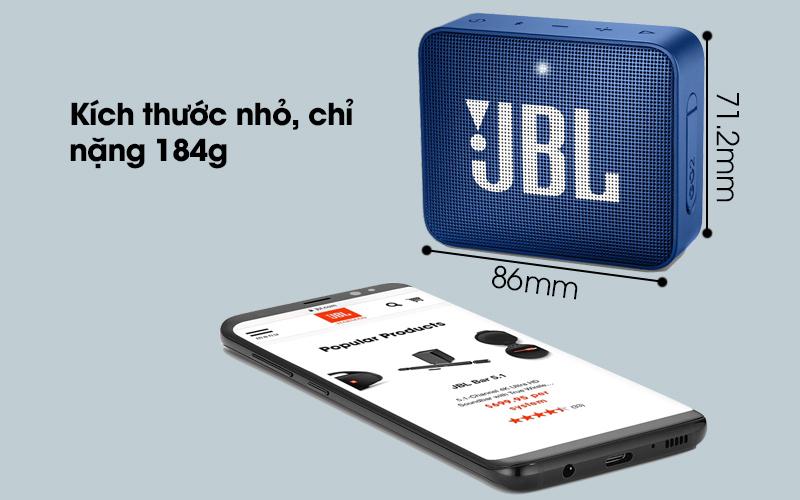Loa Bluetooth JBL GO2BLK có kích thước nhỏ gọn