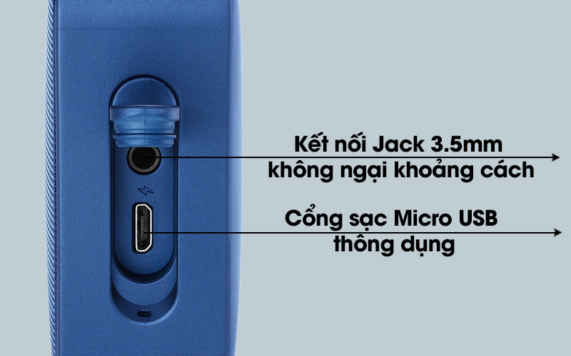 Loa Bluetooth JBL GO2BLK có cổng sạc Micro USB