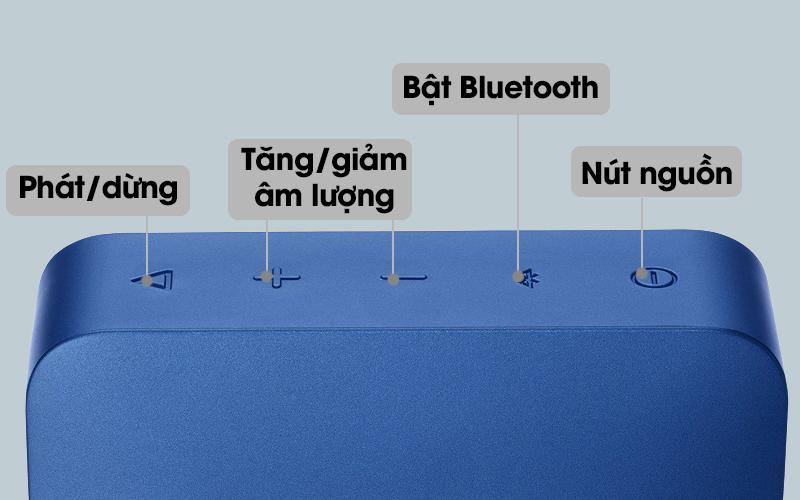 Loa Bluetooth JBL GO2BLK có nhiều nút điều khiển