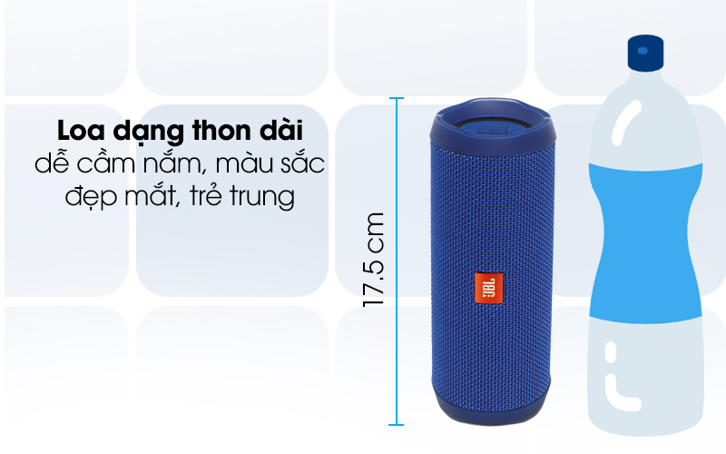 Loa Bluetooth JBL FLIP4BLU cp1 thiết kế trẻ trung