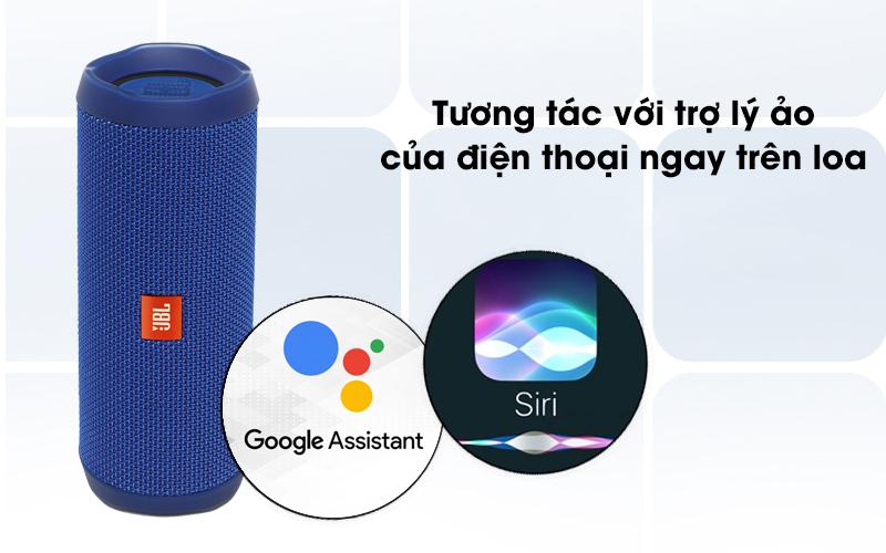 Loa Bluetooth JBL FLIP4 có thể bật trợ lý ảo của điện thoại ngay trên loa
