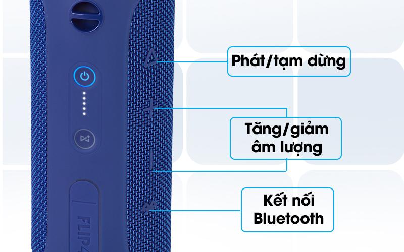 Loa Bluetooth JBL FLIP4BLU có nhiều phím điều khiển