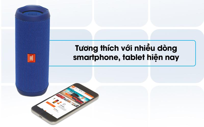 Loa Bluetooth JBL FLIP4BLU tương thích với nhiều dòng diện thoại
