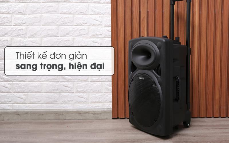Thiết kế đơn giản, sang trọng, hiện đại - Loa Kéo Bluetooth Enkor L1218K Đen