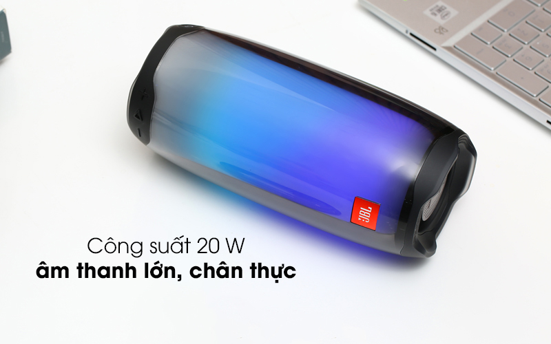 Có công suất 20 W - Loa Bluetooth JBL Pulse 4 Đen