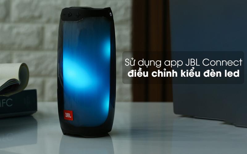 Có thể điều chỉnh đèn LED thông qua app - Loa Bluetooth JBL Pulse 4 Đen
