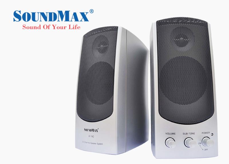 Loa vi tính SoundMax A140-2.0 - Kiểu dáng đơn giản, sử dụng dễ dàng