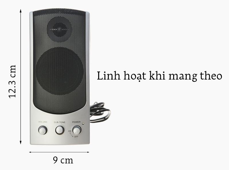 Loa vi tính SoundMax A140-2.0 - Kích thước nhỏ gọn