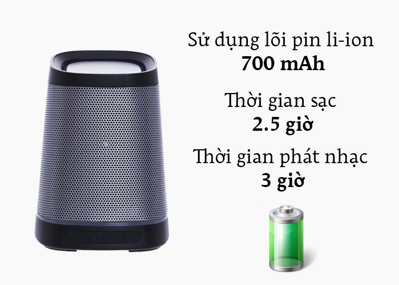 Loa Bluetooth Fenda W7 - Thời gian chơi nhạc tốt