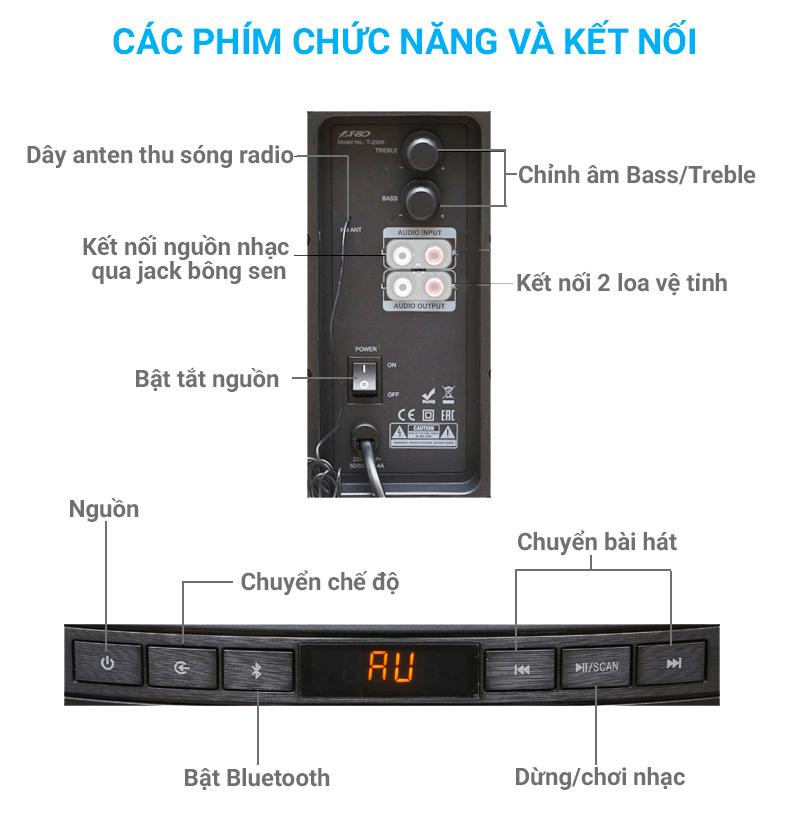Loa Soundbar Bluetooth Fenda T200X