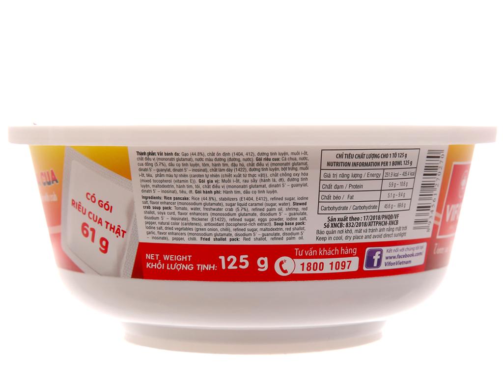 Thùng 12 tô bánh đa cua có riêu cua Vifon 125g 5
