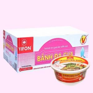 Thùng 12 tô bánh đa cua Vifon 125g (có gói riêu cua thật)
