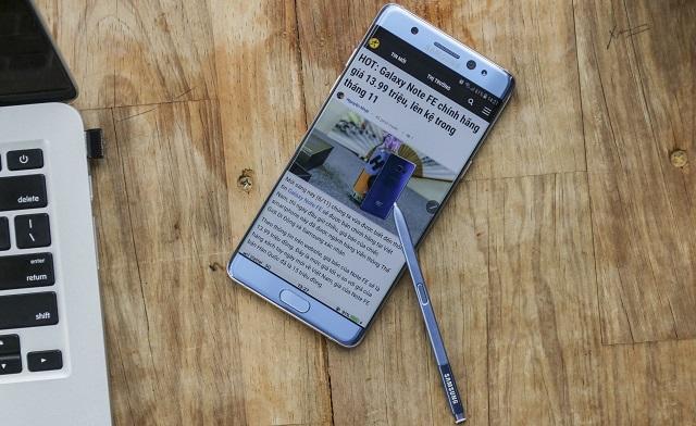 Bút SPen trên điện thoại Samsung Galaxy Note FE