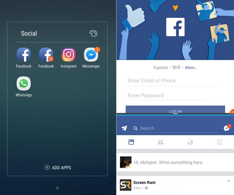 Dual Messenger trên điện thoại Samsung Galaxy J7 Pro