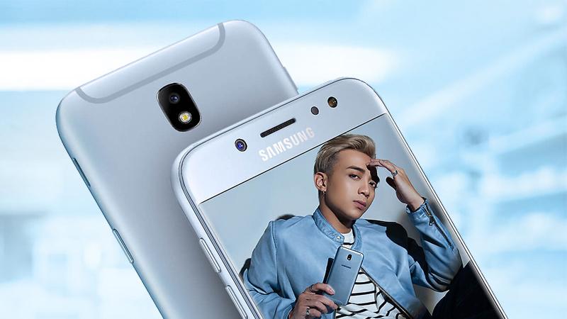 Bộ đôi camera của điện thoại Samsung Galaxy J7 Pro