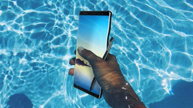 Samsung Galaxy Note 8 - ការពារទឹក