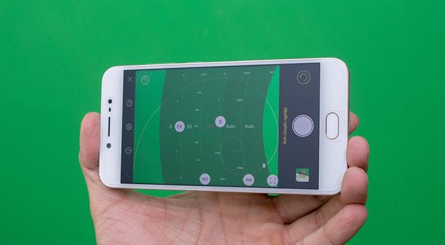 Giao diện camera điện thoại Vivo V5s