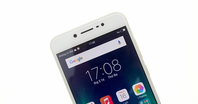 Caemra trước và đèn Flash trên điện thoại Vivo V5s