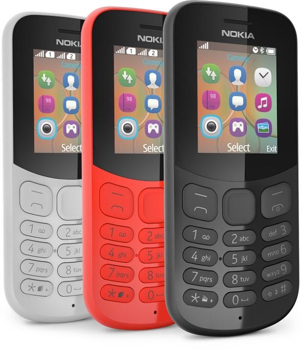 Thiết kế điện thoại Nokia 130 2017